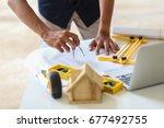 engineering design  supervision ... | Shutterstock . vector #677492755