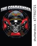 skull commander design | Shutterstock .eps vector #677502721