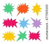 colorful speech bubble set   Shutterstock .eps vector #677505205