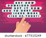 call to action concept. vector... | Shutterstock .eps vector #677515249
