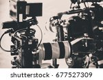 detail of professional camera... | Shutterstock . vector #677527309