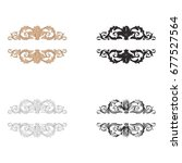 baroque vector set of vintage... | Shutterstock .eps vector #677527564