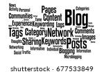 web log word cloud | Shutterstock . vector #677533849