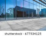 modern building outdoors  | Shutterstock . vector #677534125