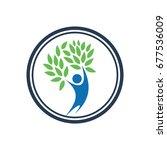 people leaf logo | Shutterstock .eps vector #677536009