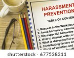 harassment prevention seminar ... | Shutterstock . vector #677538211