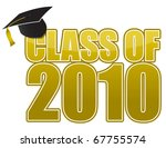 graduation 2010 cap isolated on ... | Shutterstock .eps vector #67755574
