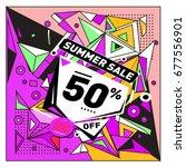 summer sale geometric style web ...   Shutterstock .eps vector #677556901