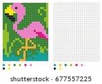 kids coloring page  pixel... | Shutterstock .eps vector #677557225