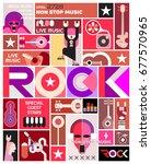 rock concert poster vector...   Shutterstock .eps vector #677570965