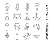 set of lamps related vector...