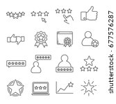 set of rating related vector... | Shutterstock .eps vector #677576287