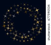 round vector frame with star... | Shutterstock .eps vector #677590534