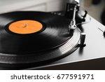 turntable vinyl record player... | Shutterstock . vector #677591971