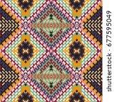 vector seamless pattern ... | Shutterstock .eps vector #677595049