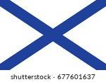 st.andrew russian navy ensign.... | Shutterstock .eps vector #677601637
