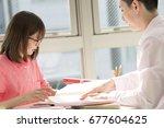 a designer's weekday afternoon...   Shutterstock . vector #677604625