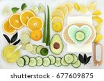 ingredients for body and skin... | Shutterstock . vector #677609875