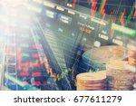 territory of business activity  ... | Shutterstock . vector #677611279