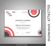 certificate of completion  ... | Shutterstock .eps vector #677617705
