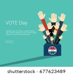 presidential election day vote...   Shutterstock .eps vector #677623489