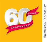 sixty years anniversary emblem... | Shutterstock .eps vector #677631859
