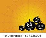 halloween in vector | Shutterstock .eps vector #677636005