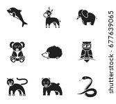 animals set icons in black... | Shutterstock . vector #677639065