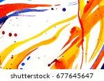 abstract watercolor texture.... | Shutterstock . vector #677645647