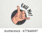 realistic hand gesture   call... | Shutterstock . vector #677666047