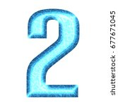 blue pool water style number... | Shutterstock . vector #677671045