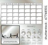 2012 kevin series calendar for...   Shutterstock . vector #67768501