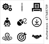 set of 9 miscellaneous icons... | Shutterstock .eps vector #677685709