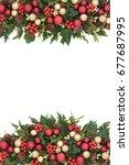 festive christmas background... | Shutterstock . vector #677687995