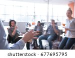 group of a young business...   Shutterstock . vector #677695795