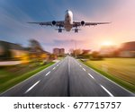 Passenger Airplane With Motion...