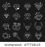 diamonds icon set | Shutterstock .eps vector #677718115