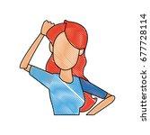 portrait woman character female ... | Shutterstock .eps vector #677728114