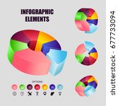 collection of pie infographics. ... | Shutterstock .eps vector #677733094
