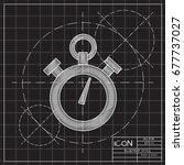 vector blueprint retro... | Shutterstock .eps vector #677737027
