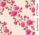 floral seamless pattern with... | Shutterstock .eps vector #677754964