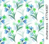 floral seamless pattern with... | Shutterstock . vector #677764387