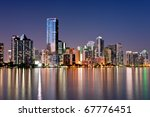twilight glow on skyline of... | Shutterstock . vector #67776451