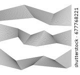 white black color. linear... | Shutterstock .eps vector #677768221