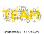 vector creative illustration of ... | Shutterstock .eps vector #677769691