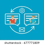 speech bubbles for comment and... | Shutterstock .eps vector #677771809
