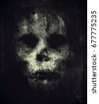 skull isolated on black... | Shutterstock . vector #677775235