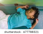 two years old asian child... | Shutterstock . vector #677788321