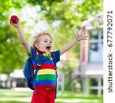 child going back to school.... | Shutterstock . vector #677792071