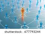 3d render human social network... | Shutterstock . vector #677793244